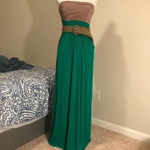 Color Me Red Strapless Maxi dress